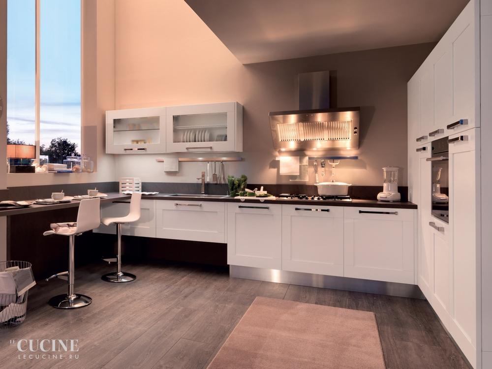 Cucina moderna con tetto