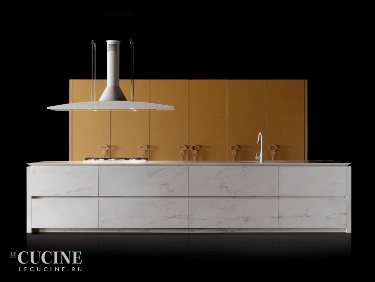 Toncelli cucine wind leather and marble 2