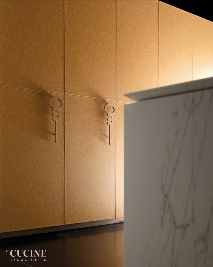 Toncelli cucine wind leather and marble 5