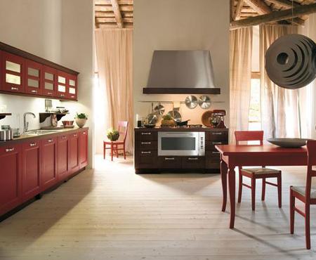 Итальянская кухня в классическом стиле solaria noce