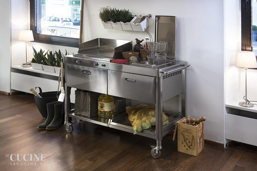 Alpes outdoor kitchen unit 130 plancha and deep fat fryer 6