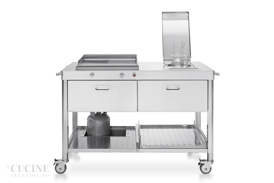 Alpes outdoor kitchen unit 130 plancha and deep fat fryer 8