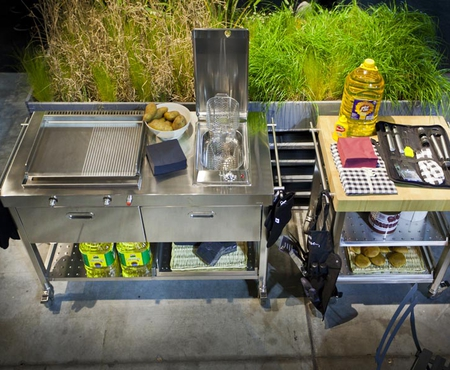Alpes outdoor kitchen unit 130 plancha and deep fat fryer 9
