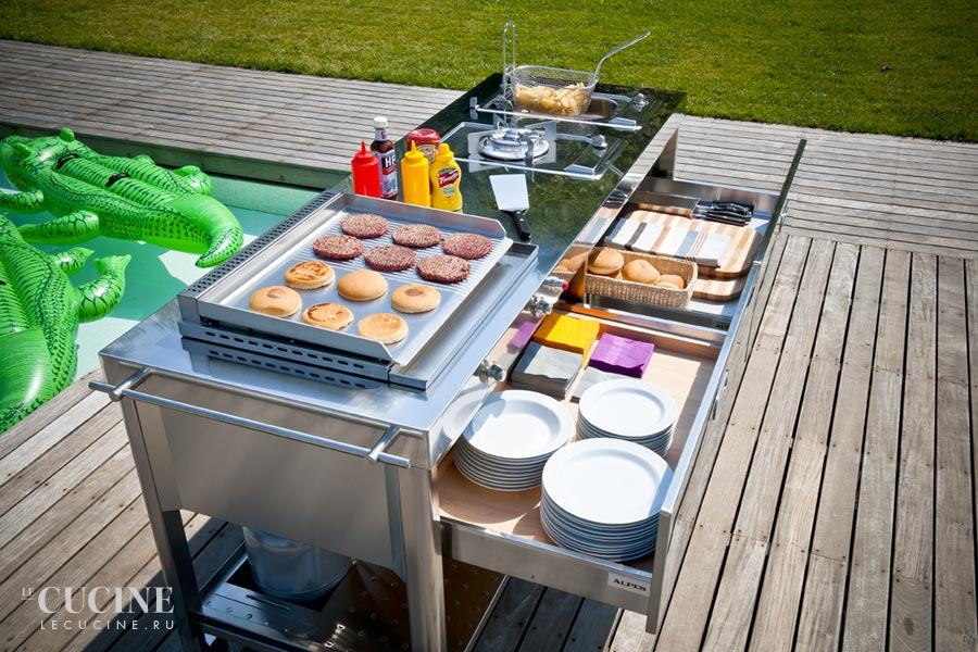 Alpes outdoor kitchen unit 190 swimming pool 1