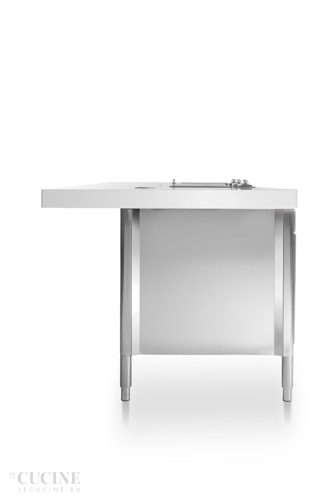 Alpes kitchen island 280 with snack bar unit 1