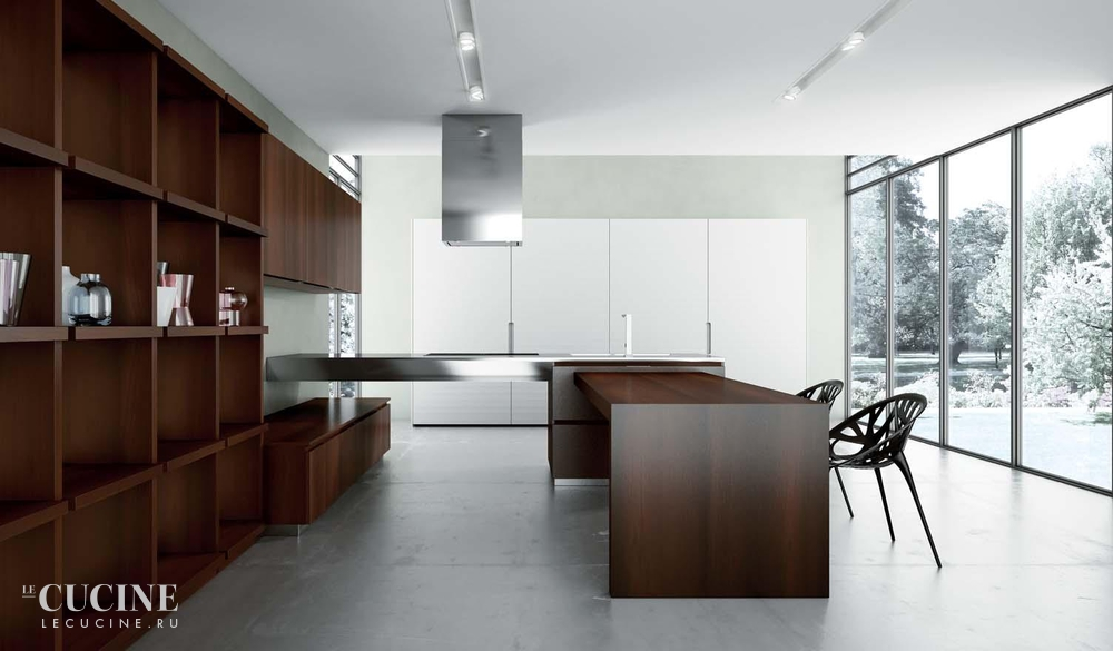 Rastelli royale heat treated acacia with texture glossy lacquered white sliding tall units 3