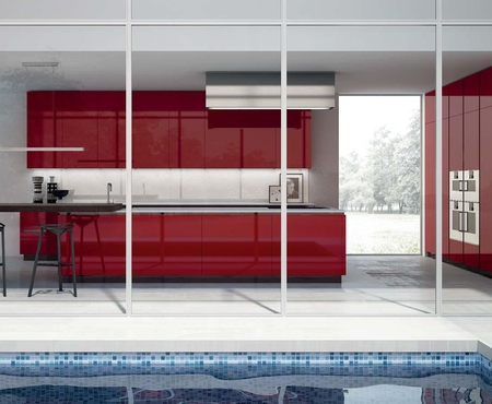 Rastelli royal glossy laminate red 3