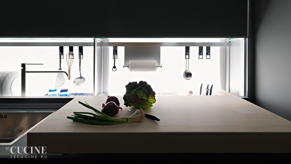 Кухня Artematica Vitrum Blue. Фабрика Valcucine. Поставка из Италии ...