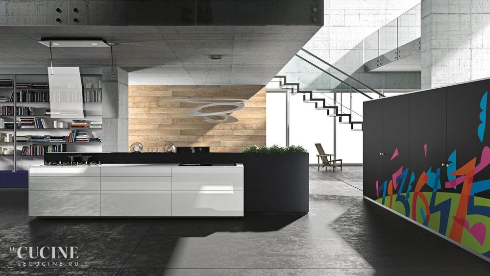 Кухня Artematica Vitrum Arte Ugo Nespolo — \