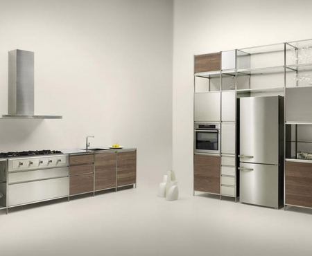 Valcucine meccanica satin finish stainless steel frame 1