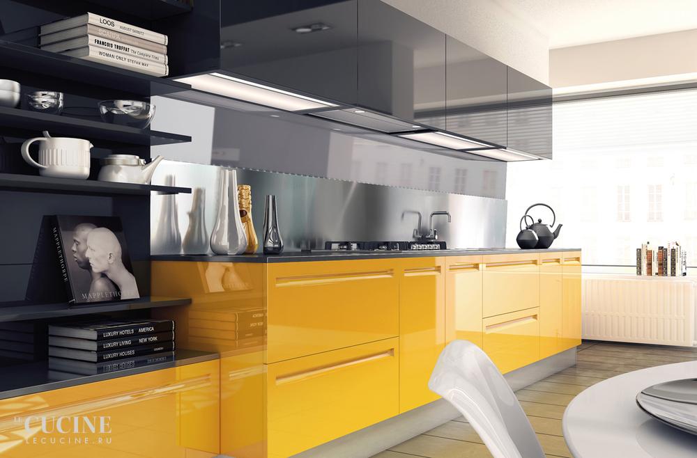 Кухня желтая дизайн 2017-2018