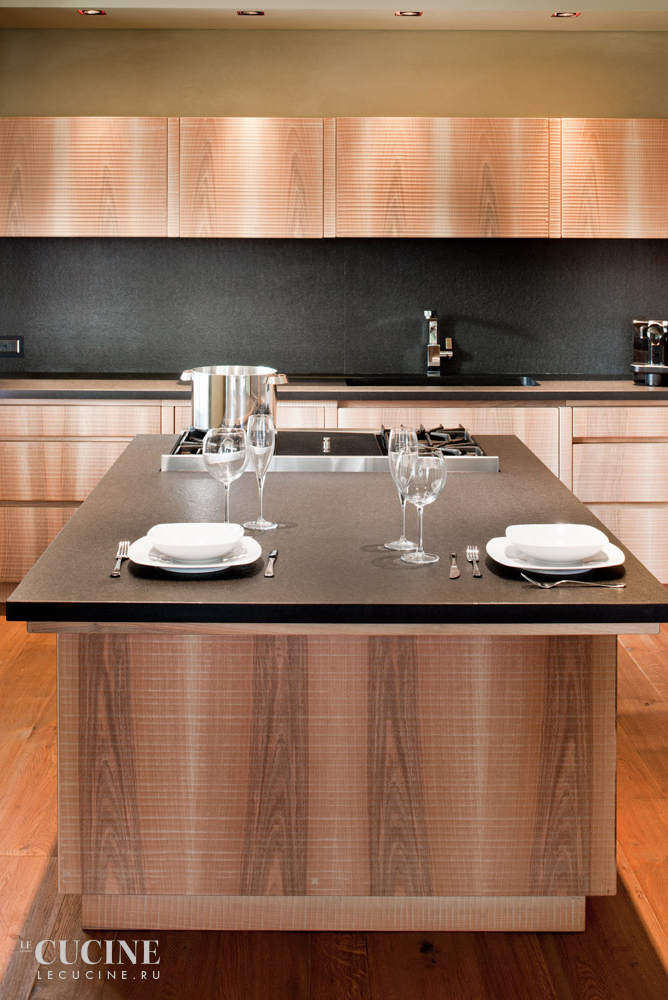 Habito by giuseppe rivadossi wood and granite kitchen 1