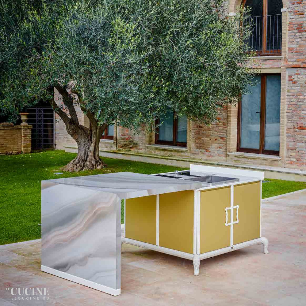 Dfn by samuele mazza island kitchen with sliding table 1
