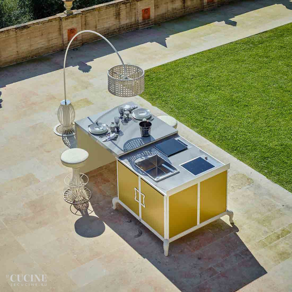 Dfn by samuele mazza island kitchen with sliding table 4