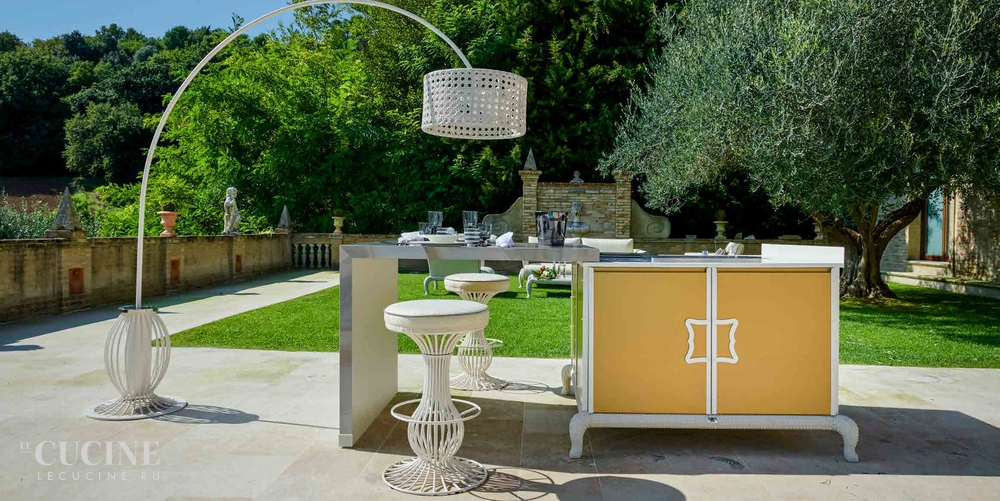 Dfn by samuele mazza island kitchen with sliding table 5