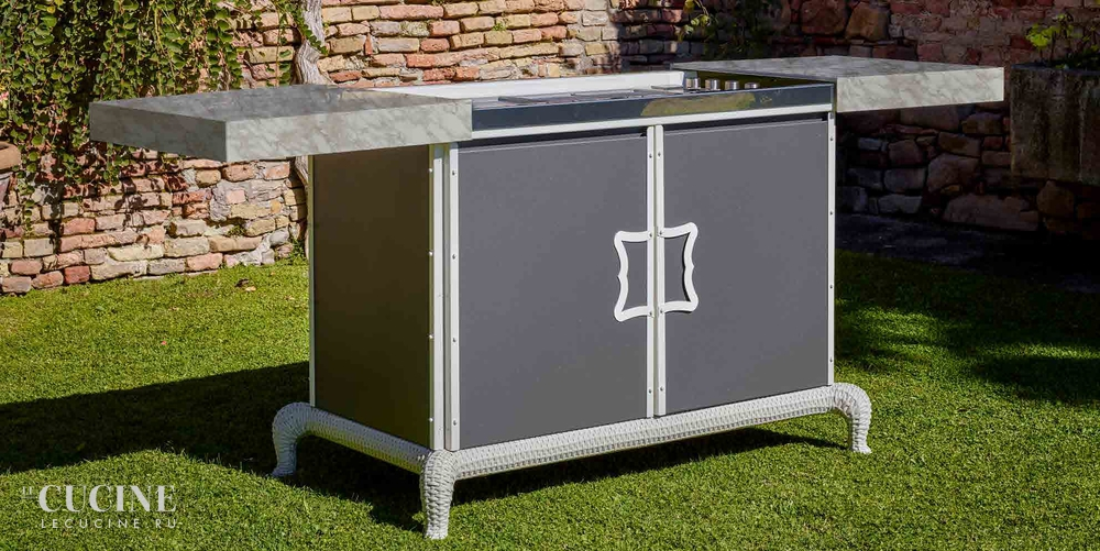 Dfn by samuele mazza kitchen barbecue with sliding manual cover 3