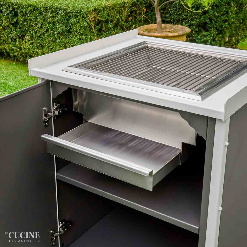 Dfn by samuele mazza kitchen barbecue with sliding manual cover 4